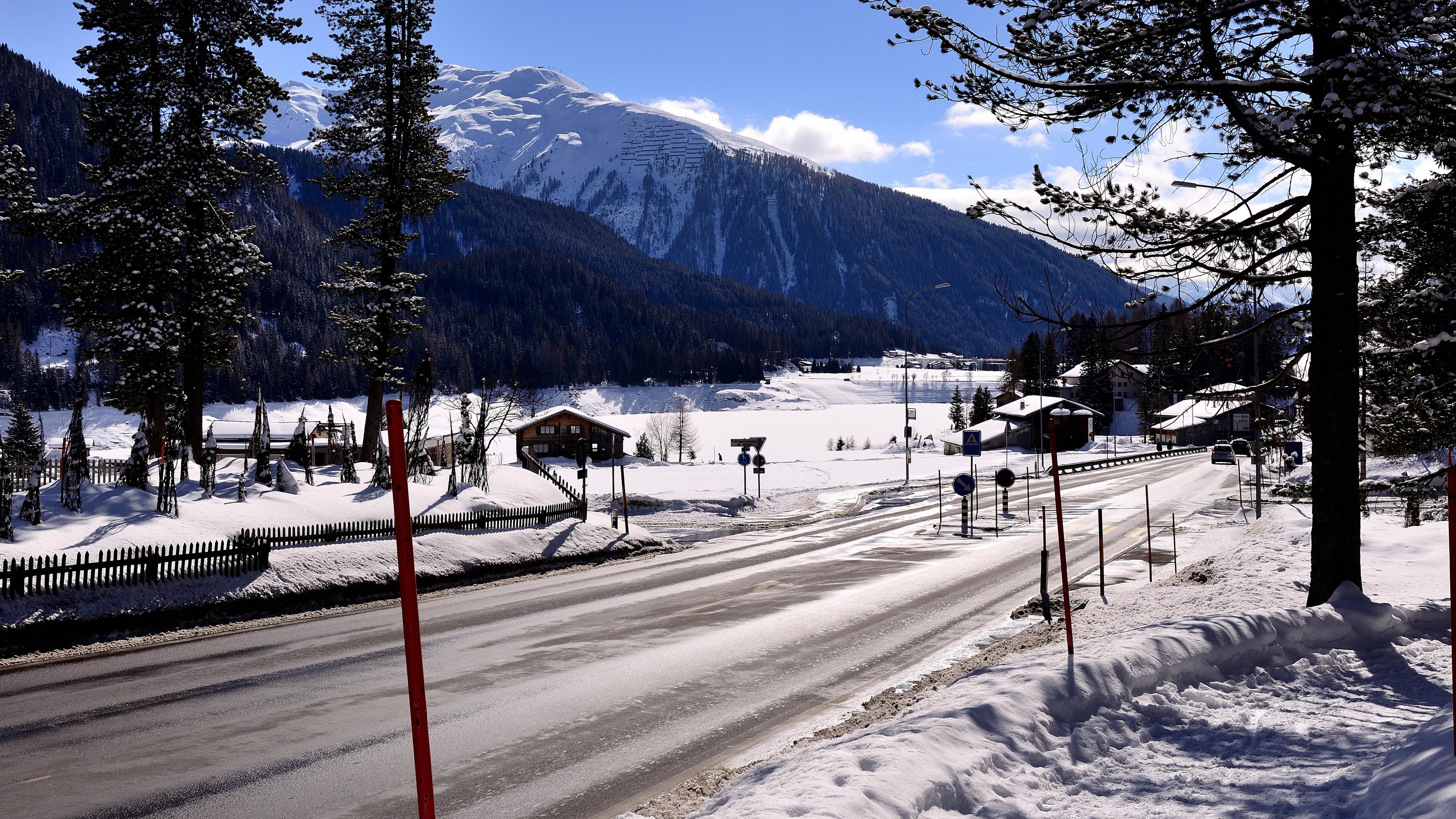 Rundfahrt durch Davos bei Sonnenschein - März 2015 - Roadtrip