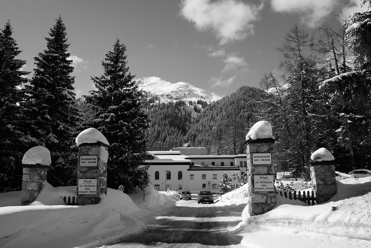 Seiteneinfahrt Hochgebirgsklinik Davos